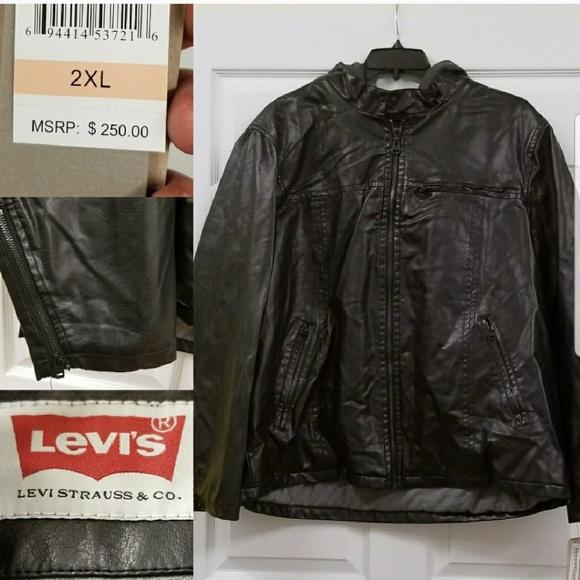 fa1e1cc0490 Levi s vegan leather varsity bomber jacket 2XL